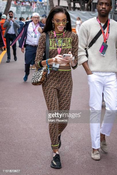 Model Winnie Harlow attends the F1 Grand Prix of Monaco on May 26 2019 in MonteCarlo Monaco