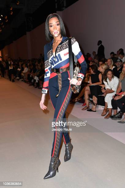 Model Winnie Harlow attends the Fendi show during Milan Fashion Week Spring/Summer 2019 on September 20 2018 in Milan Italy