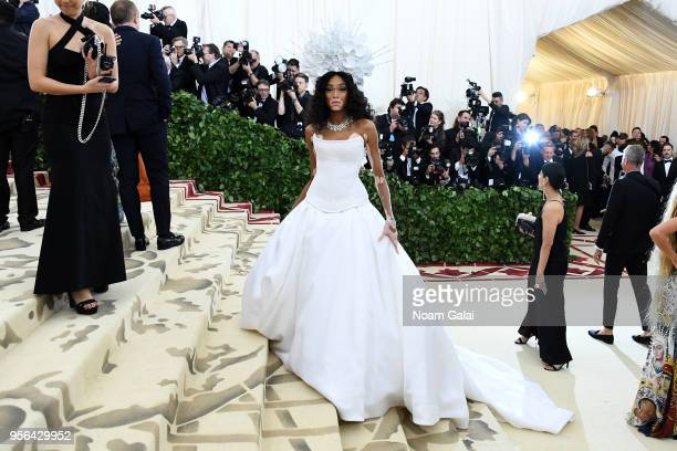 Model Winnie Harlow attends the Heavenly Bodies Fashion The Catholic Imagination Costume Institute Gala at The Metropolitan Museum of Art on May 7...