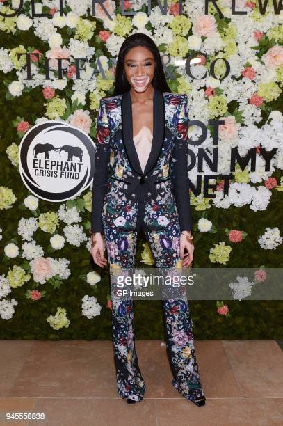 Model Winnie Harlow attends the Holt Renfrew Knot On My Planet Gala on April 12 2018 in Toronto Canada