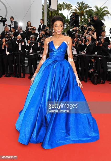 Model Winnie Harlow attends the 'Loveless ' screening during the 70th annual Cannes Film Festival at Palais des Festivals on May 18 2017 in Cannes...