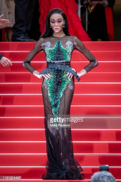 Model Winnie Harlow attends the screening of Oh Mercy during the 72nd annual Cannes Film Festival on May 22 2019 in Cannes France