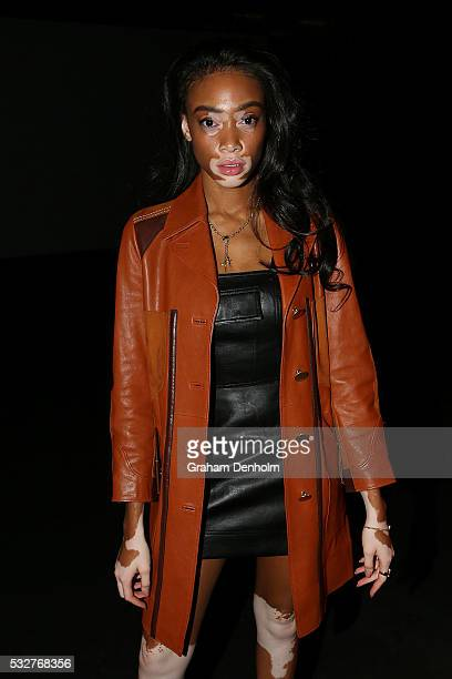 Model Winnie Harlow attends the Ten Pieces show at MercedesBenz Fashion Week Resort 17 Collections at Fox Studios on May 19 2016 in Sydney Australia