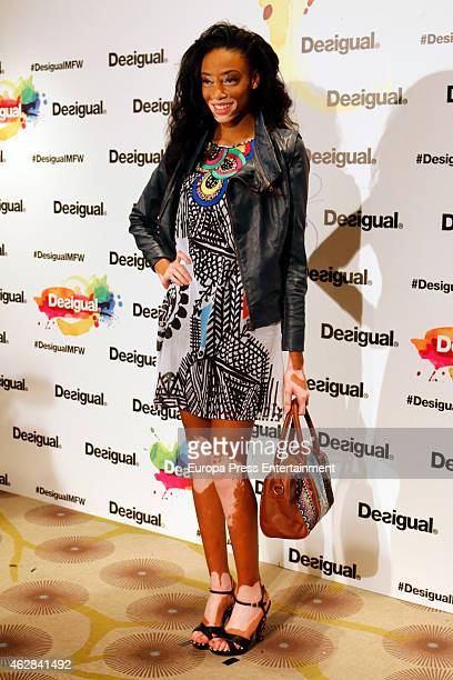 Model Winnie Harlow Harlow is presented as new image for Desigual on February 6 2015 in Madrid Spain