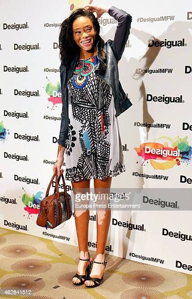 Model Winnie Harlow Harlow is presented as new image for Desigual on February 6 2015 in Madrid Spain