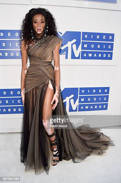 Model Winnie Harlow the 2016 MTV Video Music Awards at Madison Square Garden on August 28 2016 in New York City