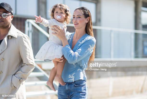 A model with her child outside By Malene Birger on August 09 2017 in Copenhagen Denmark