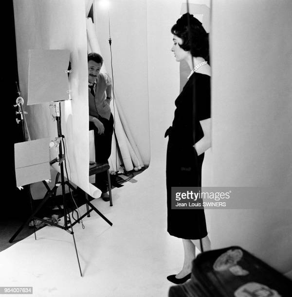 Model with photographer JeanPhilippe Charbonnier 1957 in Paris France