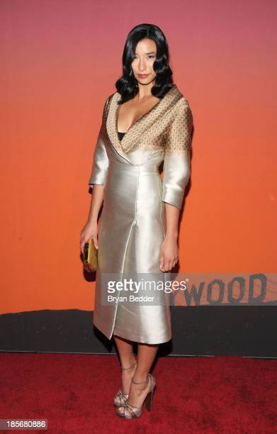 Model, writer Lily Kwong arrives for the Whitney Museum of American Art Gala & Studio Party 2013 Supported By Louis Vuitton at Skylight at Moynihan...