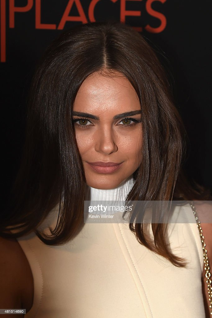 Model Xenia Deli attends the premiere of DIRECTV's 'Dark Places' at Harmony Gold Theatre on July 21, 2015 in Los Angeles, California.