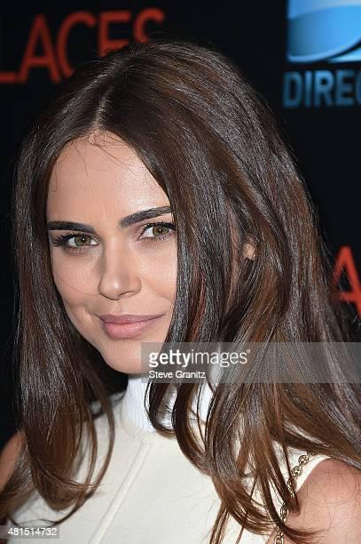 Model Xenia Deli attends the premiere of DIRECTV's Dark Places at Harmony Gold Theatre on July 21 2015 in Los Angeles California
