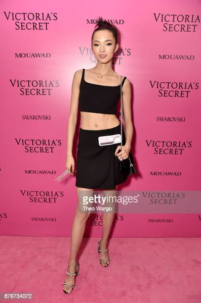 Model Xiao Wen attends the 2017 Victoria's Secret Fashion Show In Shanghai After Party at MercedesBenz Arena on November 20 2017 in Shanghai China