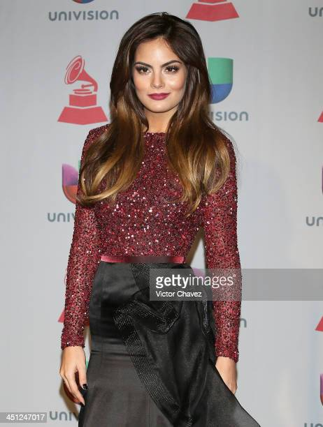 Model Ximena Navarrete poses in the press room during The 14th Annual Latin GRAMMY Awards at the Mandalay Bay Events Center on November 21 2013 in...
