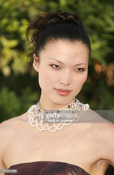 Model Xin Li arrives at 'Cinema Against AIDS 2006' the annual event in aid of amfAR at Le Moulin de Mougins during the 59th International Cannes Film...