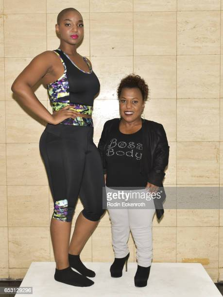 Model Yani and actress/designer Tonya Renee Banks pose for portrait at Tonya Renee Banks' debut of Lil Boss Body clothing line at Fathom on March 13...