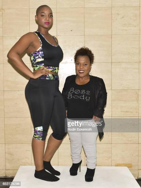 "Model Yani and actress/designer Tonya Renee Banks pose for portrait at Tonya Renee Banks' debut of ""Lil Boss Body"" clothing line at Fathom on March..."