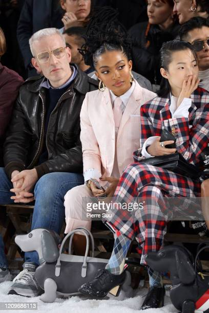 Model Yara Shahidi attends the Thom Browne show as part of the Paris Fashion Week Womenswear Fall/Winter 2020/2021 on March 01 2020 in Paris France