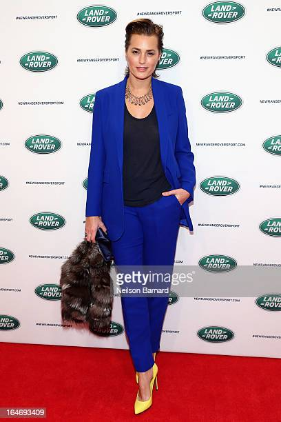 Model Yasmin Le Bon attends the allnew Range Rover Sport reveal on March 26 2013 in New York City
