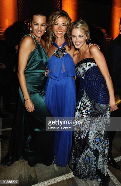 Model Yasmin Le Bon with Heather Kerzner and tv presenter Donna Air attends the grand opening night of the Kerzner Mazagan Beach Resort on October 31...