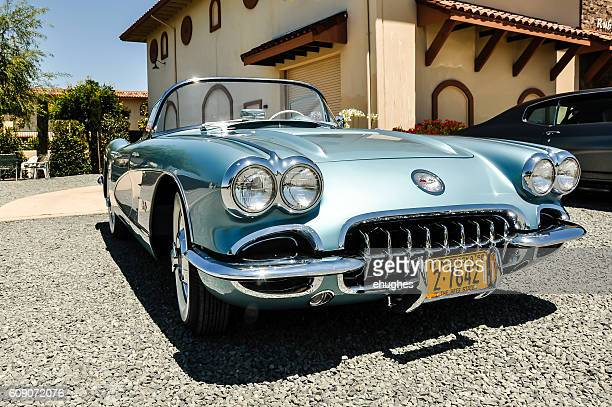 model year 1958 corvette - chevrolet corvette stock pictures, royalty-free photos & images