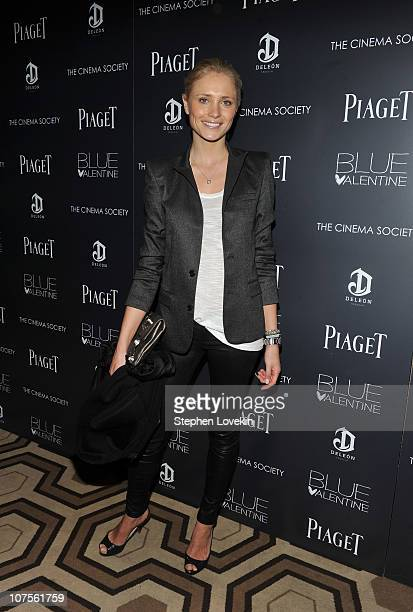 Model Yfke Sturm attends the Cinema Society Piaget screening of Blue Valentine at theTribeca Grand Hotel on December 13 2010 in New York City