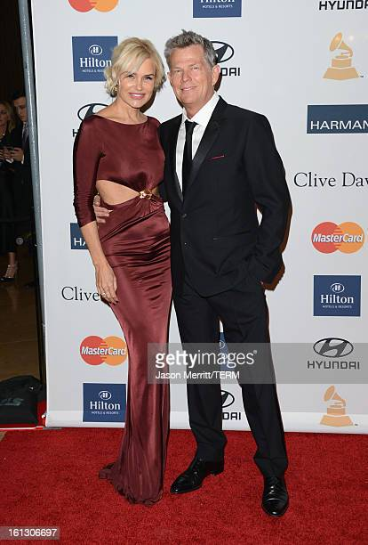 Model Yolanda Hadid and music producer David Foster arrive at Clive Davis The Recording Academy's 2013 PreGRAMMY Gala and Salute to Industry Icons...