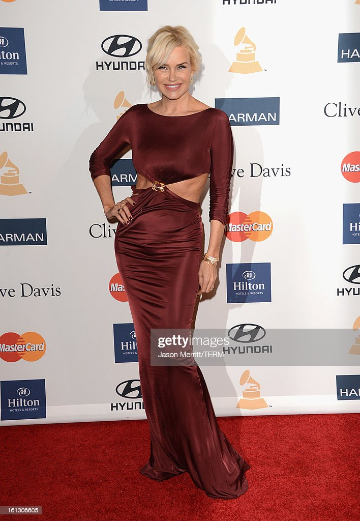 Model Yolanda Hadid arrives at Clive Davis & The Recording Academy's 2013 Pre-GRAMMY Gala and Salute to Industry Icons honoring Antonio 'L.A.' Reid at The Beverly Hilton Hotel on February 9, 2013 in Beverly Hills, California.