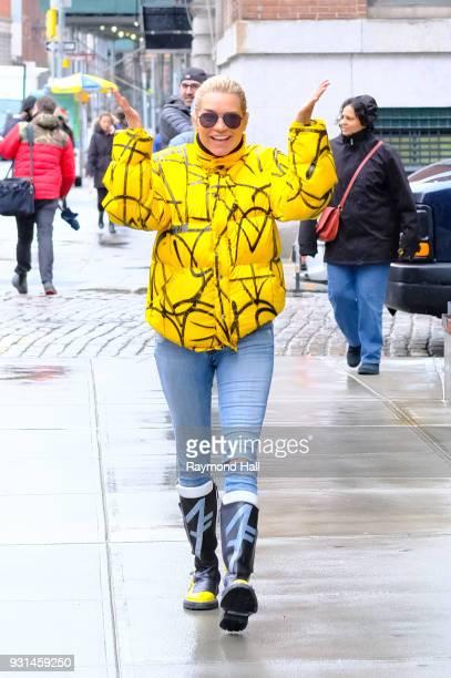 Model Yolanda Hadid is seen walking in Soho on March 13 2018 in New York City