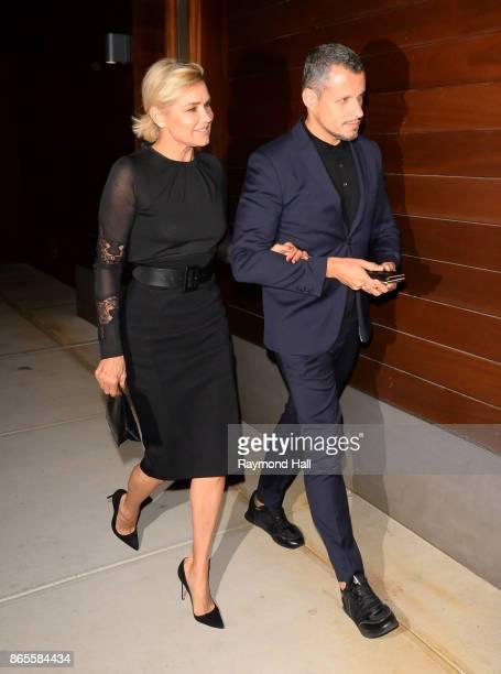 Model Yolanda Hadid is seen walking in Soho on October 23 2017 in New York City