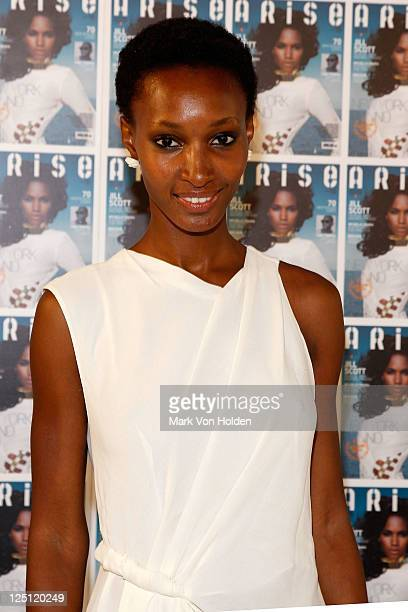 Model Yomi Abiola attends the Arise Made In Africa Spring 2012 Designer Collective at Mercedes Benz NY Fashion Week at Avery Fisher Hall at Lincoln...