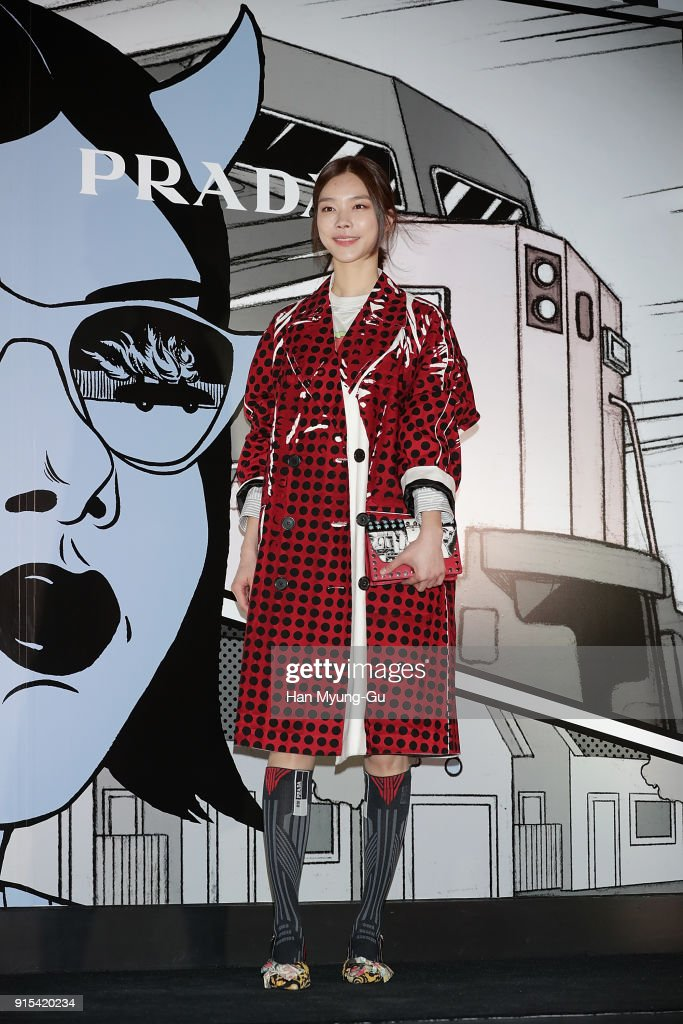 Model Yoon So-Jeong attends the photocall for the 'PRADA' on February 7, 2018 in Seoul, South Korea.