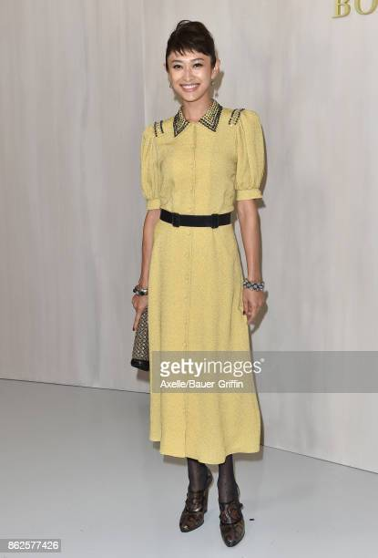 Model Yu Yamada arrives at Hammer Museum Gala in the Garden on October 14 2017 in Westwood California