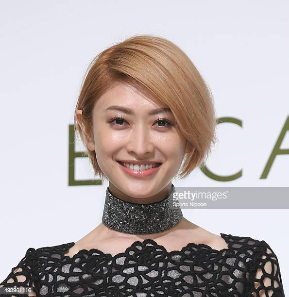Model Yu Yamada attends the ESCADA fashion show at Tokyo Midtown on April 28 2015 in Tokyo Japan