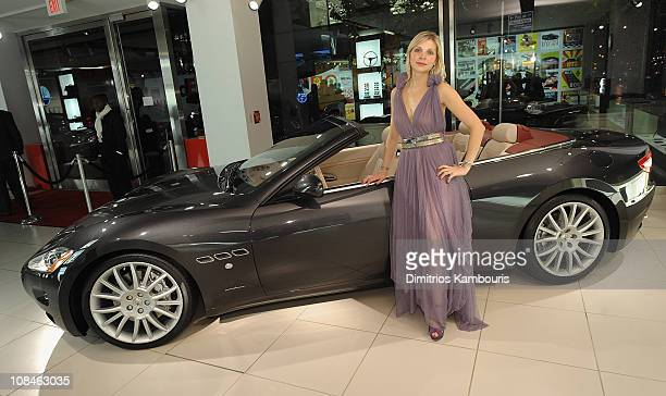 Model Yulia Paul attends the US Debut of the Maserati GranTurismo Convertible at Maserati Showroom on October 15 2009 in New York New York