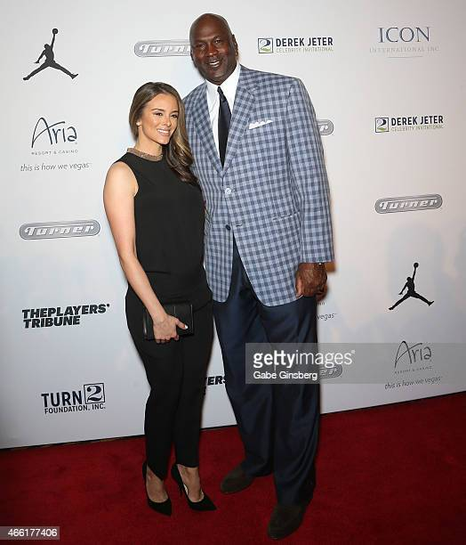 Model Yvette Prieto and her husband Charlotte Hornets owner and former National Basketball Association player Michael Jordan arrive at the Derek...