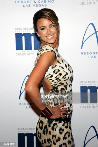 Model Yvette Prieto arrives at the 11th annual Michael Jordan Celebrity Invitational gala at the Aria Resort Casino at CityCenter March 30 2011 in...