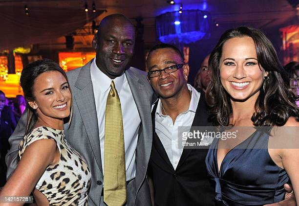 Model Yvette Prieto Charlotte Bobcats owner Michael Jordan sportscaster Stuart Scott and Sandi Williams attend the 11th annual Michael Jordan...