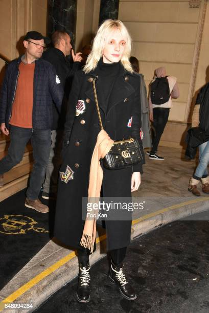 Model Zlata Semenko attends the Vivienne Westwood Show as part of the Paris Fashion Week Womenswear Fall/Winter 2017/2018 on March 4 2017 at Hotel...