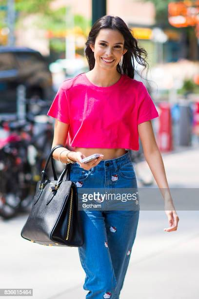 Model Zoe Barnard attends call backs for the 2017 Victoria's Secret Fashion Show in Midtown on August 21 2017 in New York City