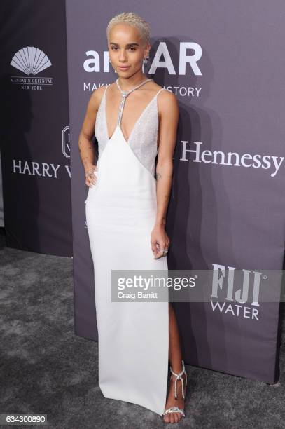 Model Zoe Kravitz attends the amfAR New York Gala 2017 sponsored by FIJI Water at Cipriani Wall Street on February 8 2017 in New York City