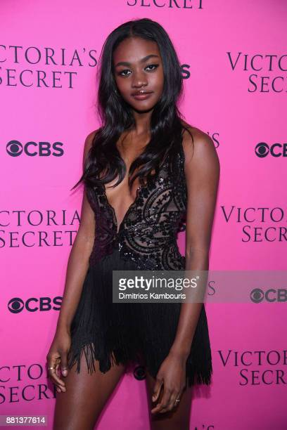 Model Zuri Tibby attends as Victoria's Secret Angels gather for an intimate viewing party of the 2017 Victoria's Secret Fashion Show at Spring...