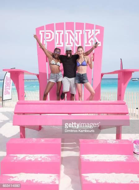 Model Zuri Tibby DJ Irie and model Grace Elizabeth attend Victoria's Secret PINK Nation Hosts Spring Break Bash on March 14 2017 in Cancun Mexico