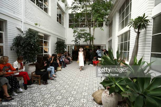 Modela walk the runway during the Albus Lumen show at MercedesBenz Fashion Week Resort 18 Collections at La Porte Deux on May 15 2017 in Sydney...