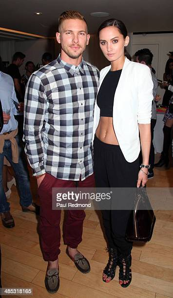 Model/actor Adam Senn and model Kelsey Rogers attend Full Moon Bazaar hosted By Rachel McCord Jose Ortiz and Jonathan Stinson at SkyBar at the...