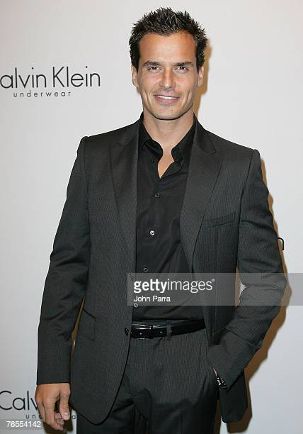 Model/actor Antonio Sabato Jr arrives at The 25th Anniversary Party of Calvin Klein Underwear at Calvin Klein on September 5 2007 in New York City