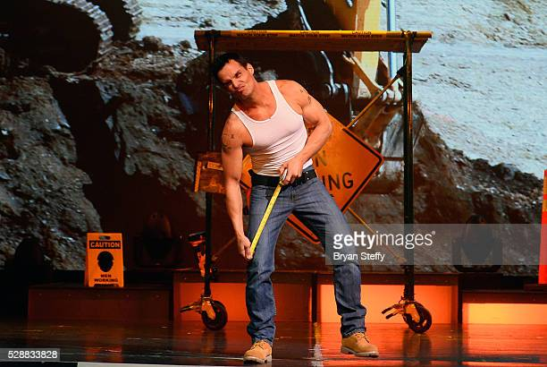 Model/actor Antonio Sabato Jr performs during his limited engagement as a celebrity host of Chippendales at the Rio Hotel Casino on May 6 2016 in Las...