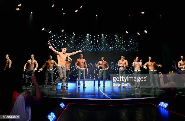 Model/actor Antonio Sabato Jr performs with the Chippendales dancers during his limited engagement as a celebrity host of Chippendales at the Rio...