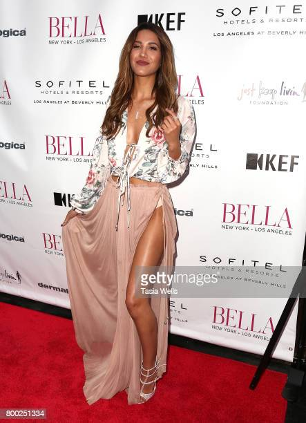 Model/actor Celisa 'CJ' Franco attends the BELLA Los Angeles Summer Issue Cover Launch Party at Sofitel Los Angeles At Beverly Hills on June 23 2017...
