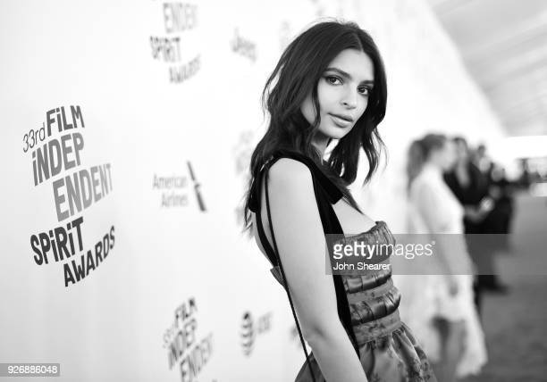 Model/actor Emily Ratajkowski attends the 2018 Film Independent Spirit Awards on March 3 2018 in Santa Monica California
