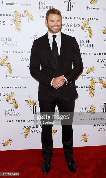 Model/actor Kellan Lutz attends the 2015 Fragrance Foundation Awards at Alice Tully Hall at Lincoln Center on June 17 2015 in New York City